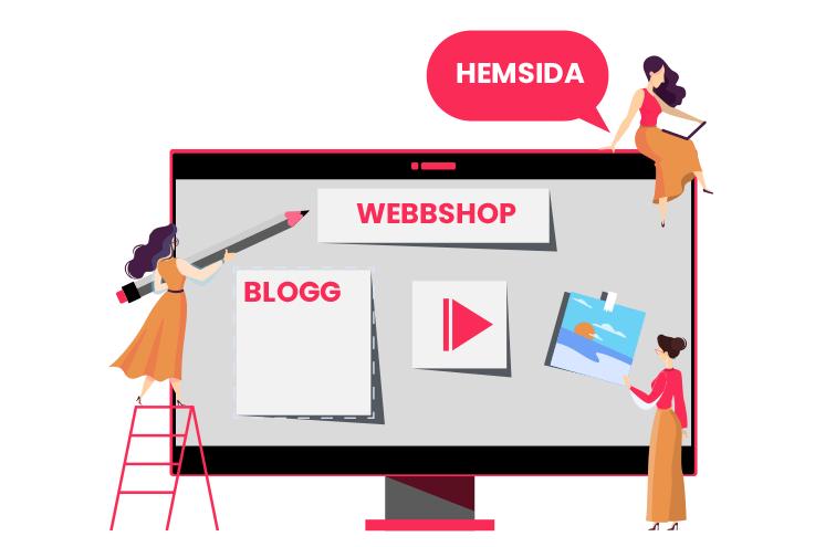 Hemsida, illustration.