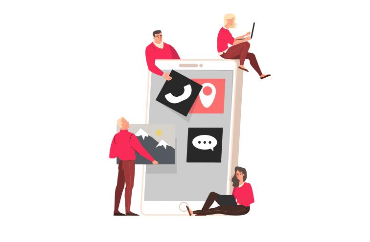 Webbdesign, illustration.