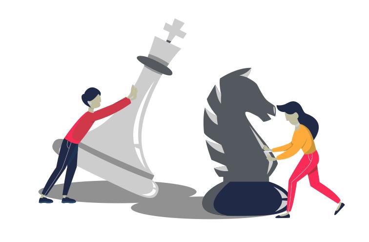Hemsida, webbstrategi illustration.
